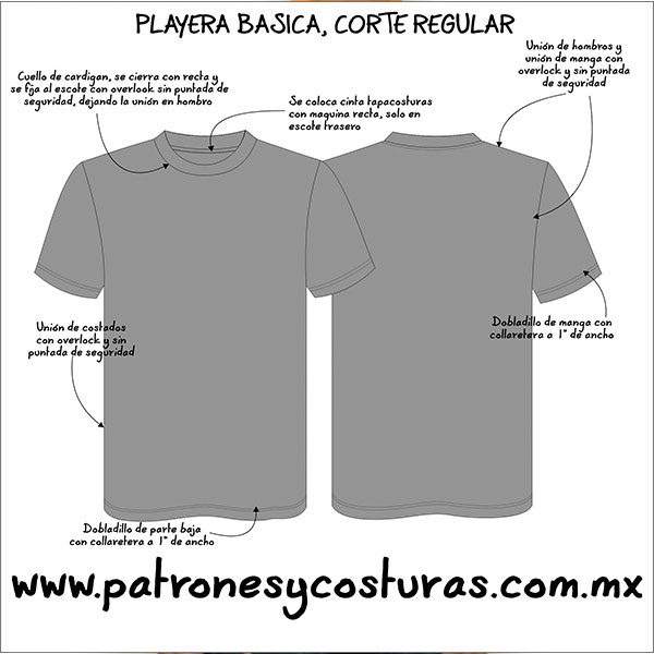 tabla medidas playera básica